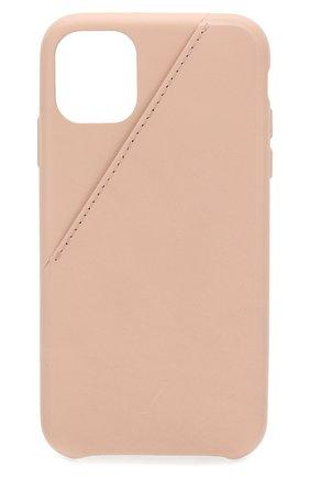 Мужской чехол для iphone 11 NATIVE UNION бежевого цвета, арт. CCARD-NUD-NP19M | Фото 1