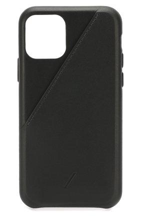Мужской чехол для iphone 11 pro NATIVE UNION черного цвета, арт. CCARD-BLK-NP19S | Фото 1