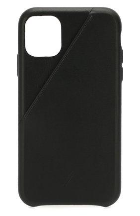 Мужской чехол для iphone 11 NATIVE UNION черного цвета, арт. CCARD-BLK-NP19M | Фото 1
