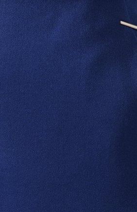 Женская шерстяная юбка BOSS синего цвета, арт. 50416631 | Фото 5