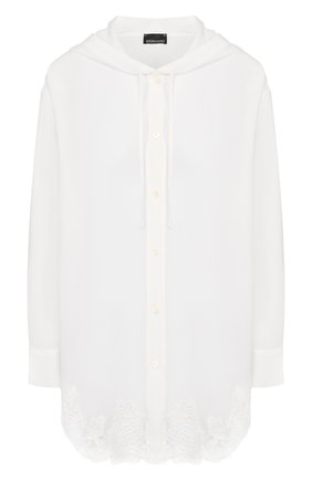 Женская шелковая блузка ERMANNO ERMANNO SCERVINO белого цвета, арт. 45T CM29 CDC   Фото 1