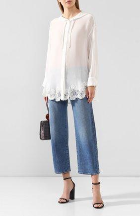 Женская шелковая блузка ERMANNO ERMANNO SCERVINO белого цвета, арт. 45T CM29 CDC   Фото 2