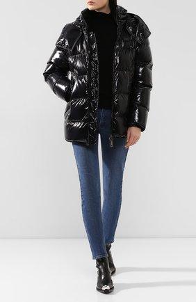 Женский пуховая куртка DOLCE & GABBANA черного цвета, арт. F9F56T/G7TTL | Фото 2