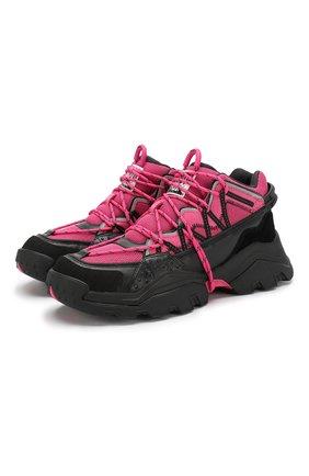 Мужские комбинированные кроссовки inka KENZO розового цвета, арт. F965SN300L69 | Фото 1