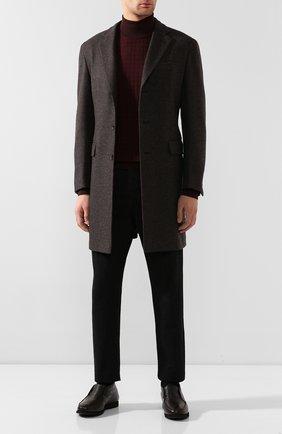 Мужские кожаные ботинки KITON темно-коричневого цвета, арт. USSFLYN00126/LINING M0NT0NE | Фото 2