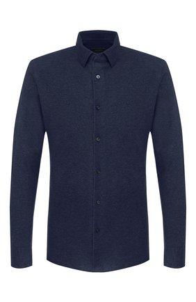 Мужская хлопковая рубашка Z ZEGNA синего цвета, арт. VT212/ZZC20 | Фото 1