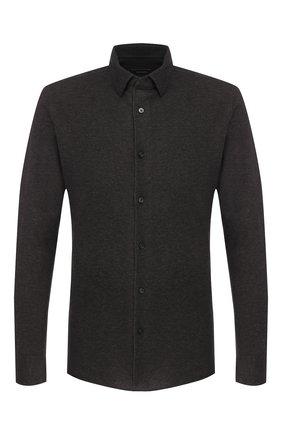 Мужская хлопковая рубашка Z ZEGNA темно-серого цвета, арт. VT212/ZZC20 | Фото 1