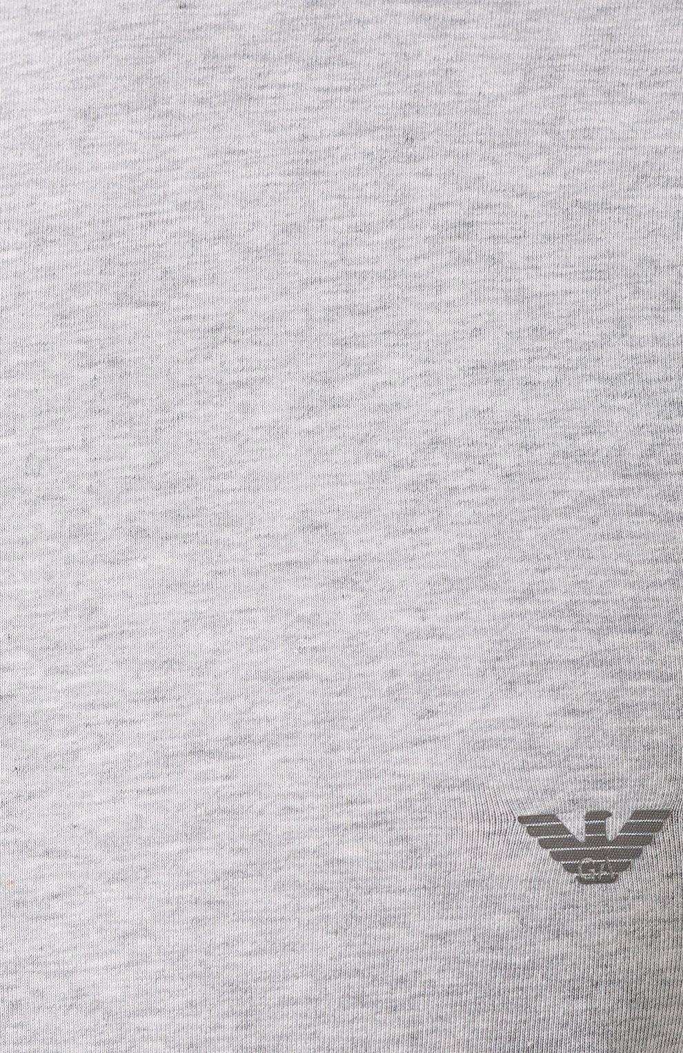 Мужская хлопковая футболка EMPORIO ARMANI серого цвета, арт. 111035/CC729 | Фото 5 (Кросс-КТ: домашняя одежда; Рукава: Короткие; Длина (для топов): Стандартные; Материал внешний: Хлопок; Мужское Кросс-КТ: Футболка-белье; Статус проверки: Проверена категория)