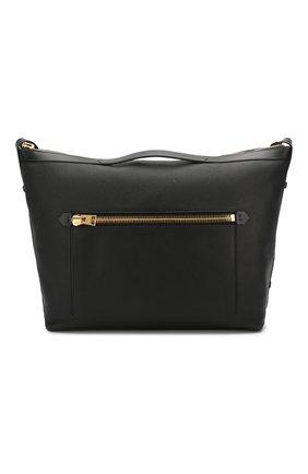 Мужская кожаная дорожная сумка TOM FORD черного цвета, арт. H0401T-LCL037 | Фото 1