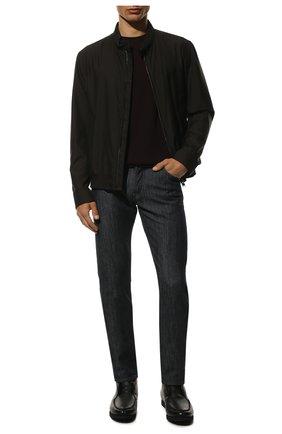 Мужские кожаные ботинки KITON черного цвета, арт. USSFLYN00126/LINING M0NT0NE | Фото 2 (Мужское Кросс-КТ: Ботинки-обувь, зимние ботинки; Материал утеплителя: Натуральный мех; Подошва: Плоская; Материал внутренний: Натуральная кожа)