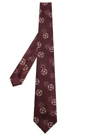 Мужской шелковый галстук GIORGIO ARMANI бордового цвета, арт. 360054/9A800 | Фото 2