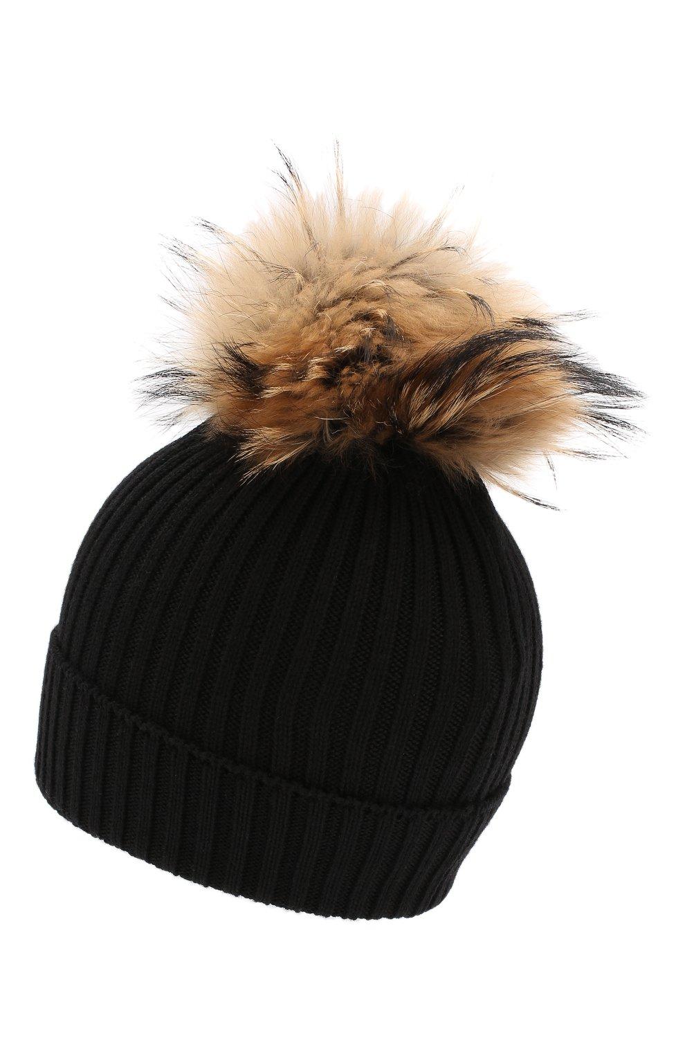 Детский комплект из шапки и шарфа MONCLER черного цвета, арт. E2-954-00951-06-04S01 | Фото 3