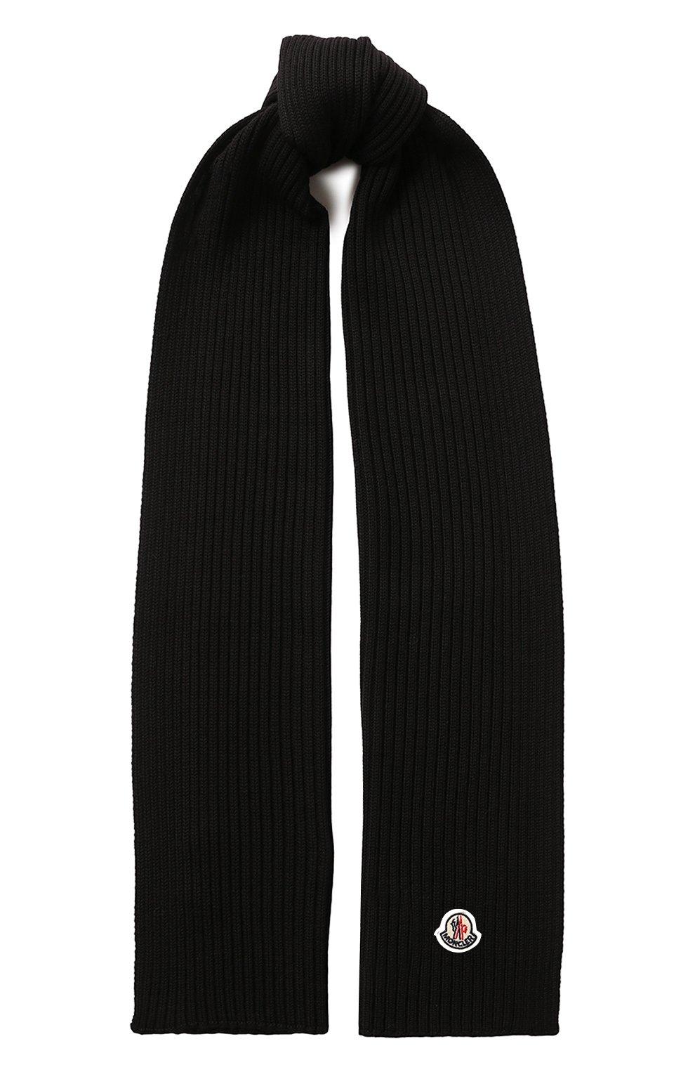 Детский комплект из шапки и шарфа MONCLER черного цвета, арт. E2-954-00951-06-04S01 | Фото 4