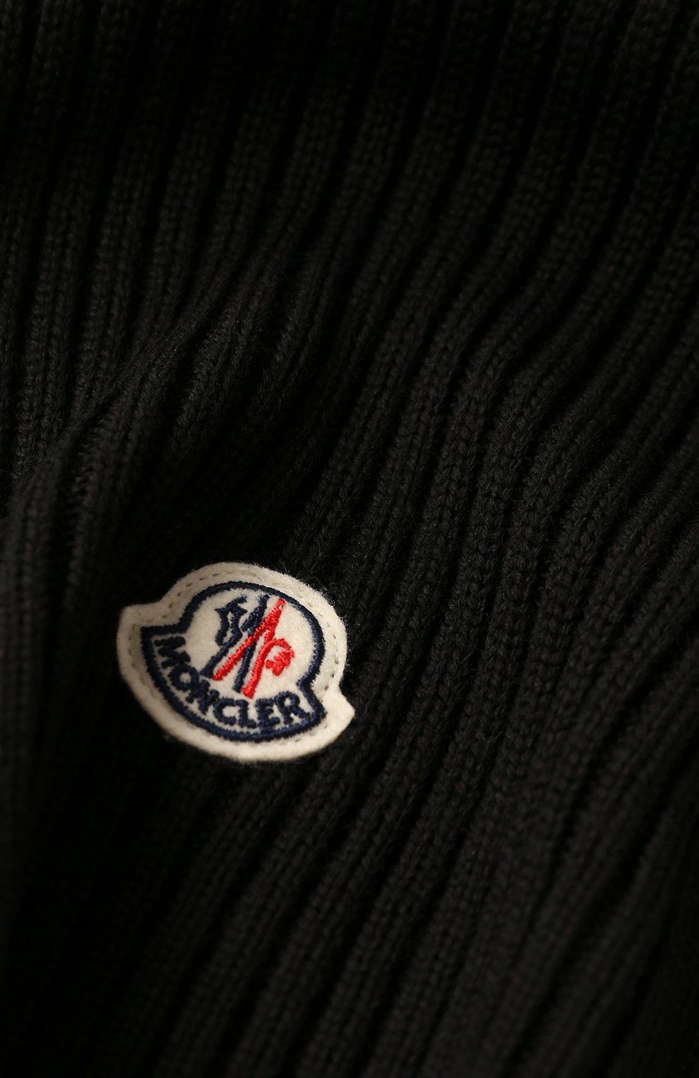 Детский комплект из шапки и шарфа MONCLER черного цвета, арт. E2-954-00951-06-04S01 | Фото 5