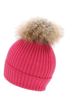 Детский комплект из шапки и шарфа MONCLER фуксия цвета, арт. E2-954-00951-06-04S01   Фото 3