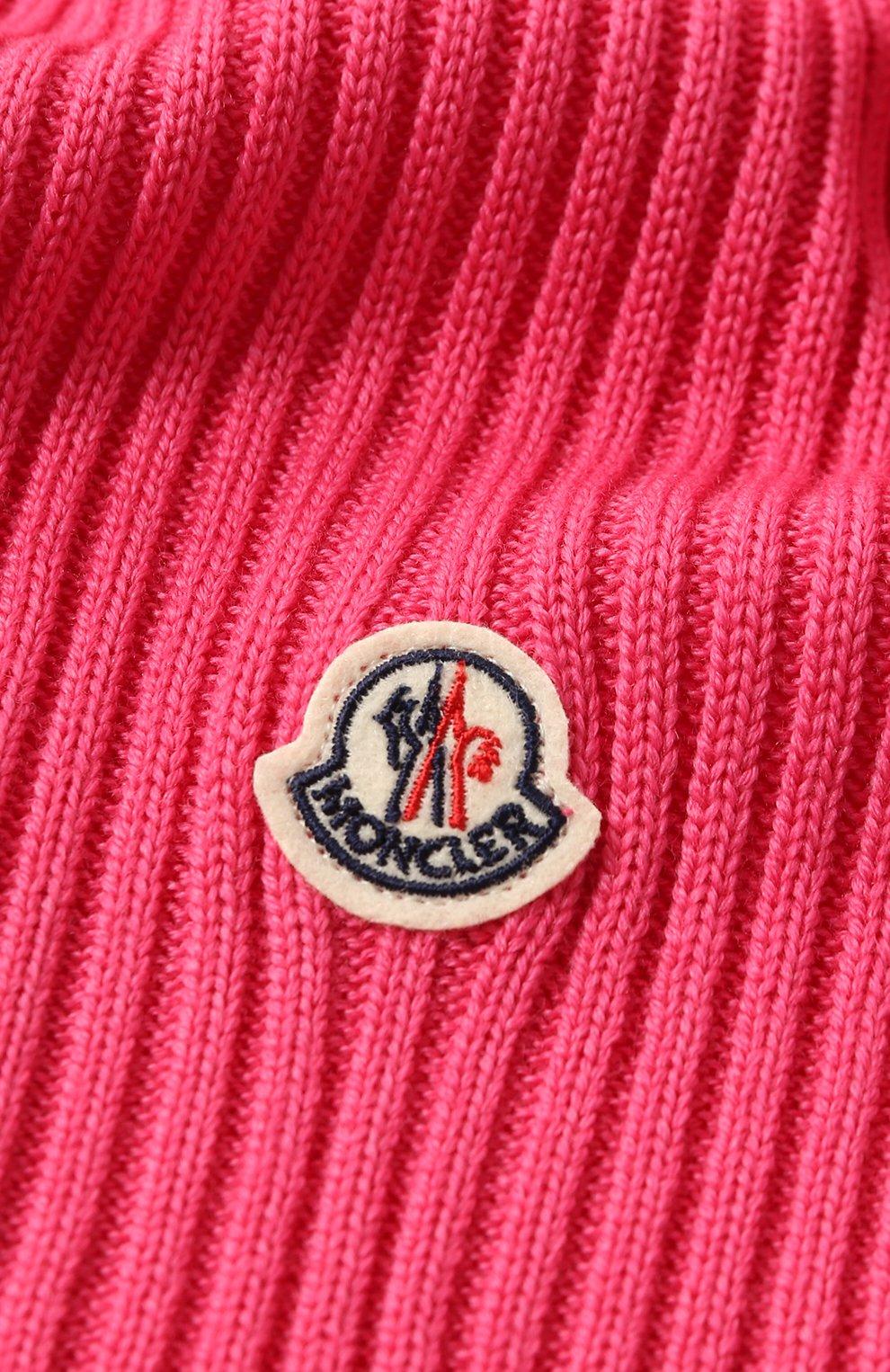 Детский комплект из шапки и шарфа MONCLER фуксия цвета, арт. E2-954-00951-06-04S01   Фото 5