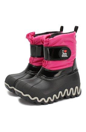 Детские утепленные сапоги JOG DOG розового цвета, арт. 55039R/ZAFFIR0 BALTIC0/23-30   Фото 1