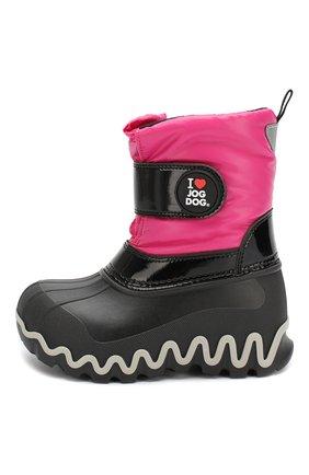 Детские утепленные сапоги JOG DOG розового цвета, арт. 55039R/ZAFFIR0 BALTIC0/23-30   Фото 2