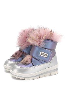 Детские утепленные ботинки JOG DOG сиреневого цвета, арт. 13025R/ZAFFIR0 LATEX/29-35 | Фото 1