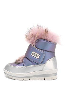 Детские утепленные ботинки JOG DOG сиреневого цвета, арт. 13025R/ZAFFIR0 LATEX/29-35 | Фото 2
