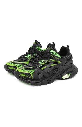 Женские текстильные кроссовки track.2 BALENCIAGA зеленого цвета, арт. 568615/W2GN3 | Фото 1