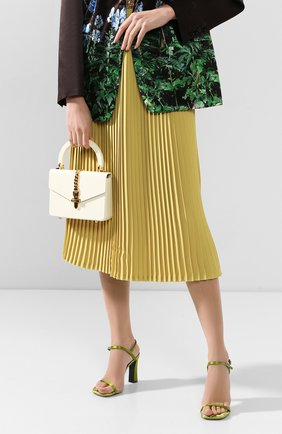 Женская сумка sylvie GUCCI кремвого цвета, арт. 589482/J3HSG | Фото 2