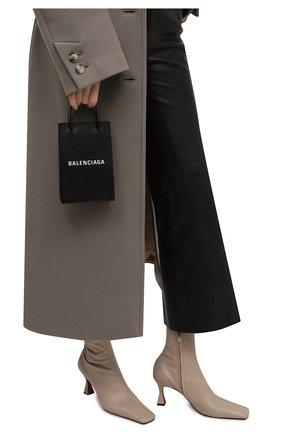 Мужской кожаный чехол shopping для телефона BALENCIAGA черного цвета, арт. 593826/0AI2N | Фото 2