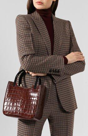Женская сумка eric BY FAR коричневого цвета, арт. 19FWERITNEDLAR   Фото 2