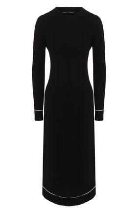 Женское платье из смеси шерсти и кашемира PROENZA SCHOULER черного цвета, арт. R1937225-KK013   Фото 1
