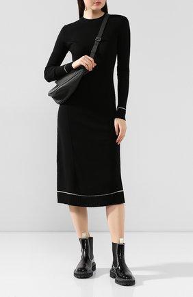 Женское платье из смеси шерсти и кашемира PROENZA SCHOULER черного цвета, арт. R1937225-KK013 | Фото 2