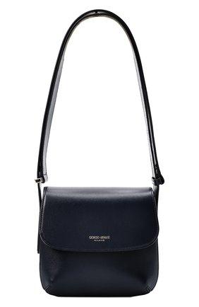 Женская сумка la prima small GIORGIO ARMANI синего цвета, арт. Y1E138/YTF4A | Фото 1 (Материал: Натуральная кожа; Размер: small; Сумки-технические: Сумки top-handle)