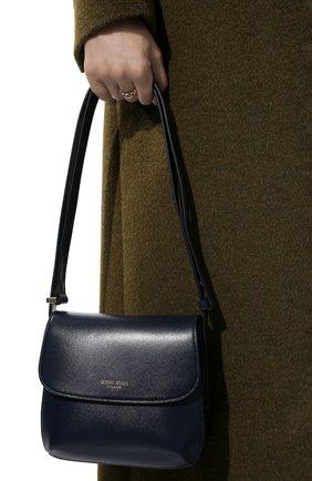Женская сумка la prima small GIORGIO ARMANI синего цвета, арт. Y1E138/YTF4A | Фото 2 (Материал: Натуральная кожа; Размер: small; Сумки-технические: Сумки top-handle)