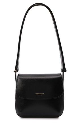 Женская сумка la prima small GIORGIO ARMANI черного цвета, арт. Y1E138/YTF4A | Фото 1 (Материал: Натуральная кожа; Размер: small; Сумки-технические: Сумки top-handle)
