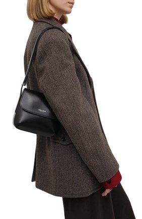 Женская сумка la prima small GIORGIO ARMANI черного цвета, арт. Y1E138/YTF4A | Фото 2 (Материал: Натуральная кожа; Размер: small; Сумки-технические: Сумки top-handle)