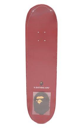 Мужского доска для скейтборда BAPE красного цвета, арт. 1F80182012 | Фото 1
