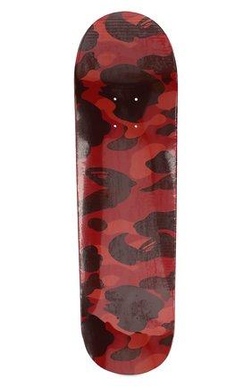 Мужского доска для скейтборда BAPE красного цвета, арт. 1F80182012 | Фото 2