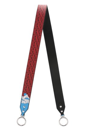 Женские кожаный ремень для сумки KENZO красного цвета, арт. F962AC104L19 | Фото 1