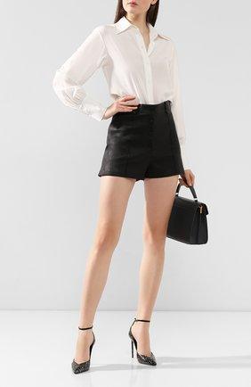 Женская туфли zoe из кожи питона SAINT LAURENT черного цвета, арт. 592387/L0T10 | Фото 2
