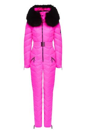 Женский комбинезон с капюшоном ODRI розового цвета, арт. 19210406-1 | Фото 1