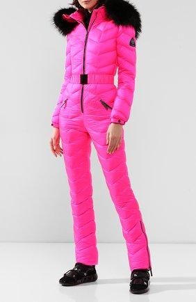 Женский комбинезон с капюшоном ODRI розового цвета, арт. 19210406-1 | Фото 2