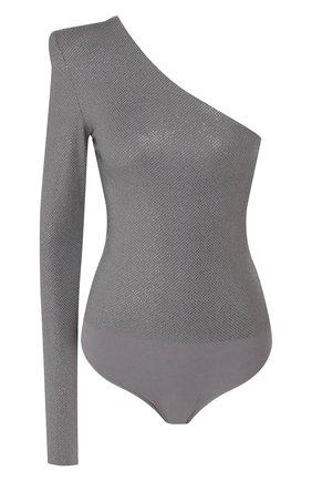 Женское боди из вискозы ALEXANDRE VAUTHIER серебряного цвета, арт. 193BY1103B 0191-1029B | Фото 1