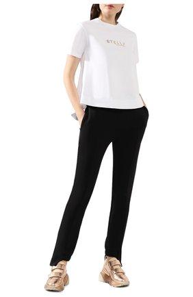 Женская хлопковая футболка STELLA MCCARTNEY белого цвета, арт. 593857/SNW19   Фото 2