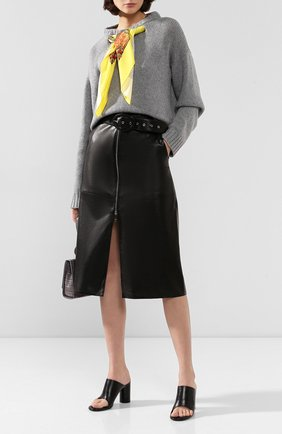 Женская кожаная юбка JITROIS черного цвета, арт. JUPE CHARL0TTE AGNEAU DAIM ZIP DEVANT | Фото 2