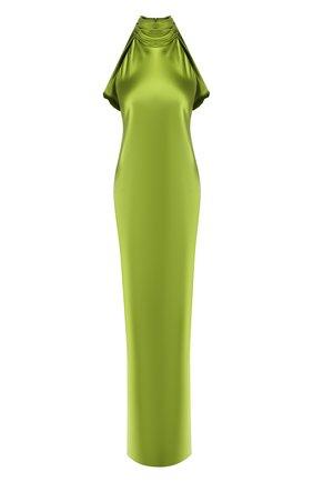 Женское шелковое платье BRANDON MAXWELL зеленого цвета, арт. GN121FW19 | Фото 1