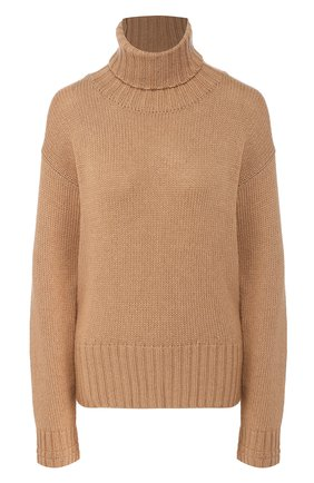 Женский свитер из смеси шерсти и вискозы JEJIA бежевого цвета, арт. 2739J1M006 190792 | Фото 1