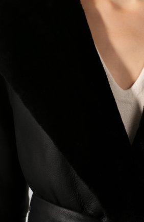 Женская дубленка с поясом THE ROW черного цвета, арт. 4567L83 | Фото 5