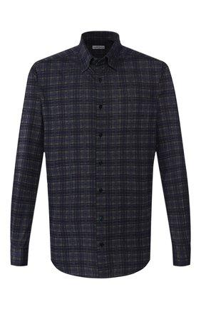 Мужская хлопковая рубашка ZILLI темно-синего цвета, арт. MFS-MERCU-64027/RJ01 | Фото 1