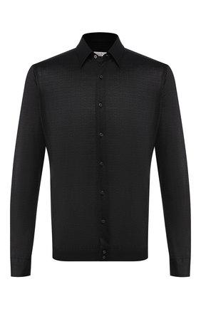 Мужская хлопковая рубашка ZILLI темно-серого цвета, арт. MFS-MERCU-56053/RJ01 | Фото 1