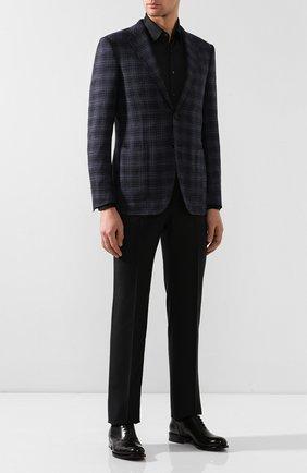 Мужская хлопковая рубашка ZILLI темно-серого цвета, арт. MFS-MERCU-56053/RJ01 | Фото 2