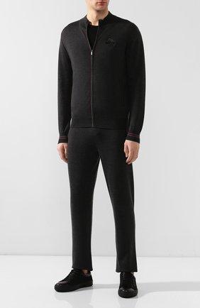 Мужской спортивный костюм из смеси кашемира и шелка ZILLI темно-серого цвета, арт. MBS-J0408-J0ZI1/ML01 | Фото 1